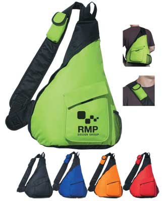 Wholesale 600D Sling Backpacks, Royal Blue, Red, Lime Green, Orange or Black