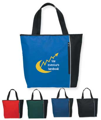 Bulk Polyester Tote Bags, Royal Blue, Red, Forest Green, Navy or Black