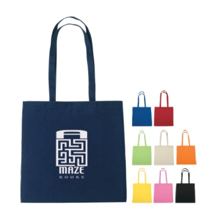 wholesale personalized cotton totes, Black, Orange, Royal Blue, Lime Green, Pink, Yellow, Natural, Navy or Red