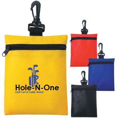 Wholesale Golf Pouches in Bulk, Personalized, Red, Royal Blue, Yellow or Black