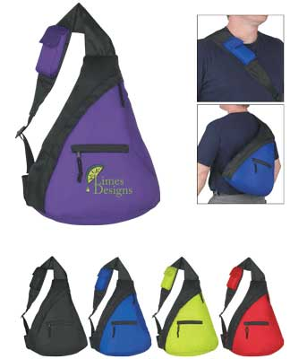 Cheap Personalized Shoulder Bags - Sling Backpacks, Red, Blue, Green.