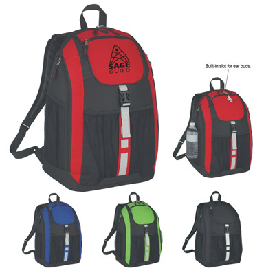 Custom Deluxe Backpacks Personalized, Lime Green, Red, Royal Blue or Black