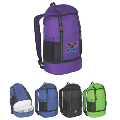 Custom Insulated Sports Pack, Black, Royal Blue, Lime Green or Purple.