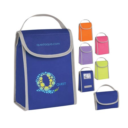 Custom Women Lunch Bag Personalized Wholesale, Orange, Lime Green, Fuchsia, Light Purple or Blue