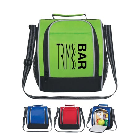 Custom Insulated Lunch Bag Personalized, Royal Blue, Red or Lime Green
