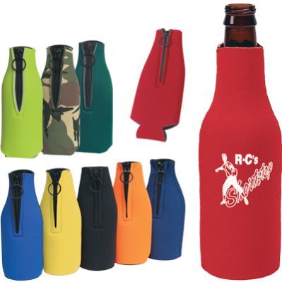 personalized zippered bottle koozies