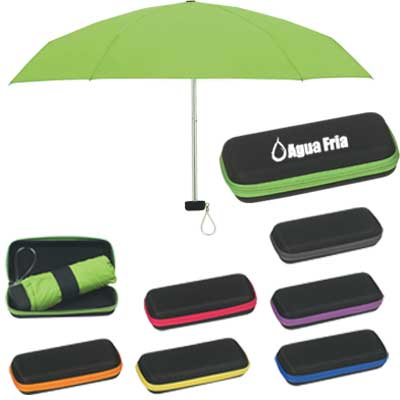 Wholesale Travel Umbrellas, Personalized in Bulk, Lime Green, Red, Orange, Purple, Royal Blue or Yellow,