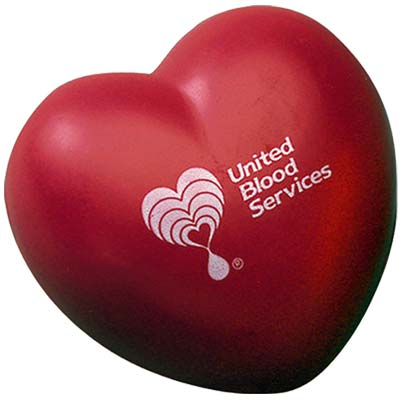 Wholesale Heart Stress Relievers in Bulk, Personalized, Yellow