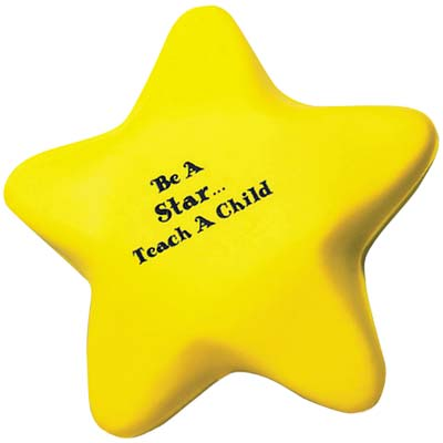 Wholesale Star Stress Relievers in Bulk, Personalized, Yellow
