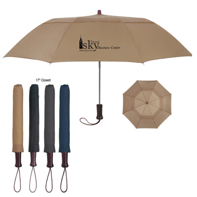 Custom Vented Folding Umbrellas Personalized in Bulk