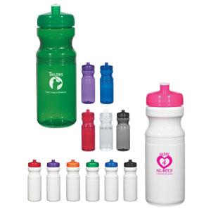 Custom 24 Oz. PET Bottle, Translucent: Red, Blue, Green, Purple, Charcoal or Clear