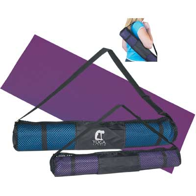 Wholesale Yoga Mats Personalized in Bulk, Blue or Purple