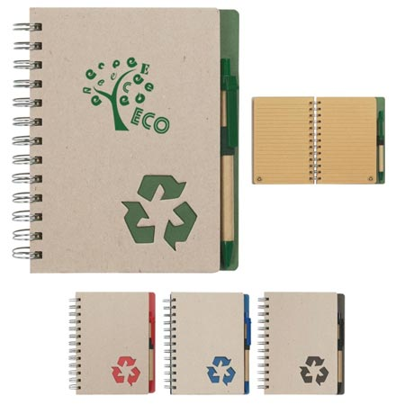 Custom Recycled Spiral Notebook Personalized Wholesale