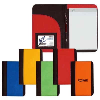 Wholesale Padfolios in Bulk, Personalized, Lime Green, Yellow, Orange, Red or Royal Blue