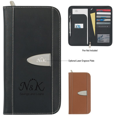 Custom Leather Travel Wallet Personalized in Bulk