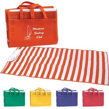 custom stripes beach mats personalized in bulk cheap promotional