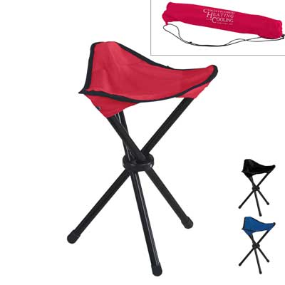 Wholesale Folding Tripod Stool in Bulk, Personalized Red, Black, Royal Blue