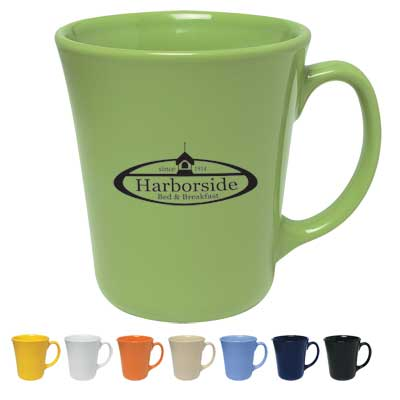 Bulk Bahama Mugs, Personalized, Black, Cobalt Blue, Lime Green, Ocean Blue, Orange, White, Almond or Yellow