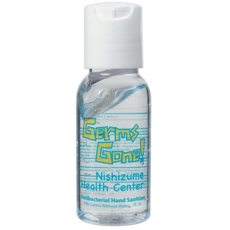 Custom Clear Hand Sanitizer Personalized Wholesale, FDA Approved, 1 oz.