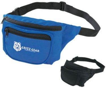Personalized fanny packs in bulk, custom printed, blue or black