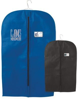 wholesale personalized garment bags zippered blue, black