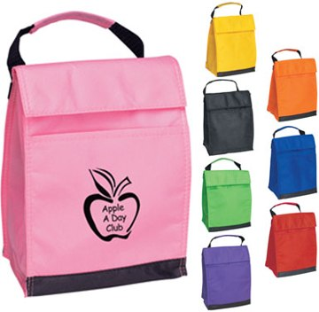 Personalized Lunch Bag in bulk Purple, Black, Pink, Royal Blue, Lime Green, Orange, Red or Yellow