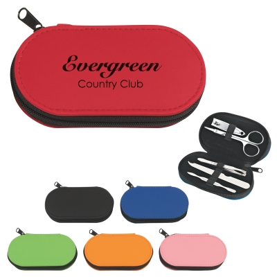 Personalized Manicure Sets Lime, Royal Blue, Red, Pink, Orange, Black