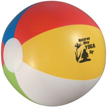 "Custom Multicolor Beach Ball Personalized in Bulk, 12"", 20"" and 24"""