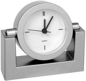 wholesale swivel clock personalized silver