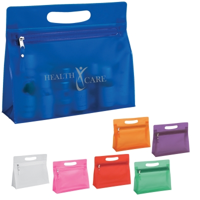 Cheap Personalized Vanity Bags in Bulk, Purple, Orange, Red, Green, Blue, White or Pink.