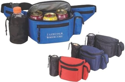 Personalized Fanny Pack Cooler 3 cans Red, Blue, Black
