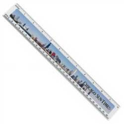 "Wholesale Promotional Full Color Ruler in Bulk, 12"" long"